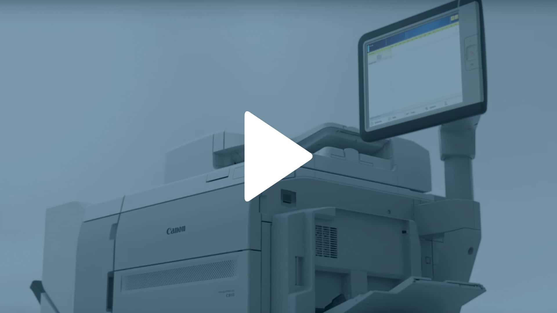 Canon imagePRESS C910 Series Video Overview Thumbnail