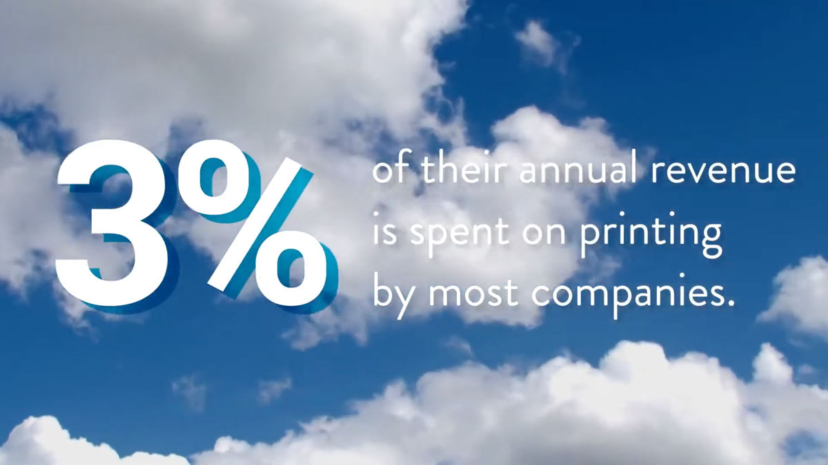 Most companies spend 3% of their annual revenue on printing