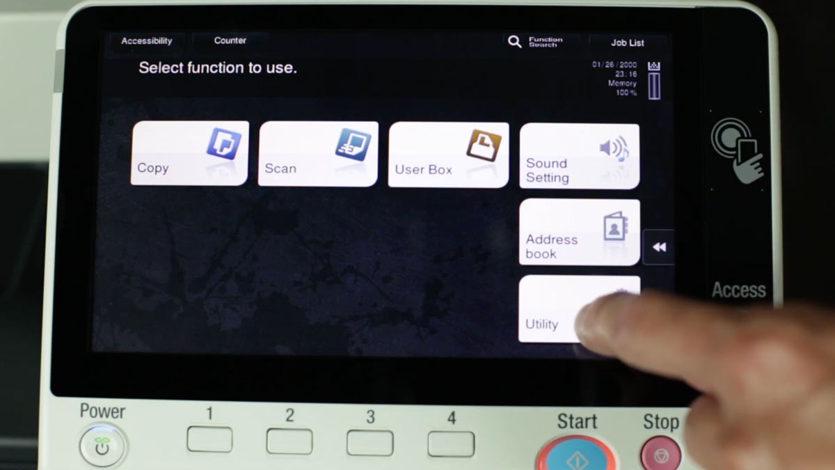 Printer screen for Apple printing
