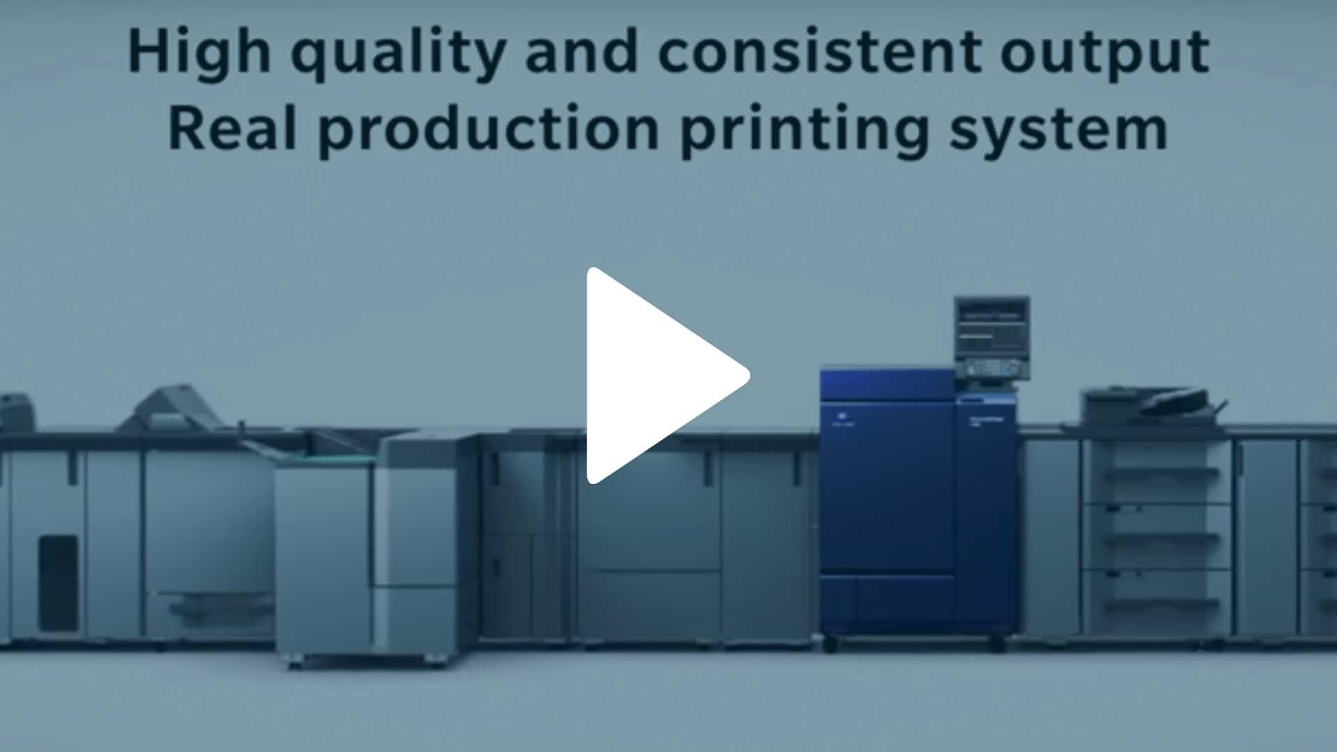 Konica Minolta AccurioPress C6100 Digital Color Press Video Overview Thumbnail